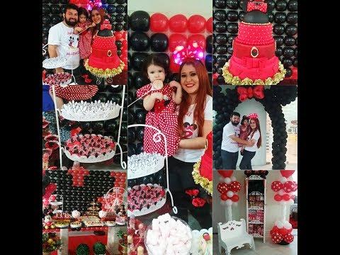 Decoração de Festa Minnie Vermelha