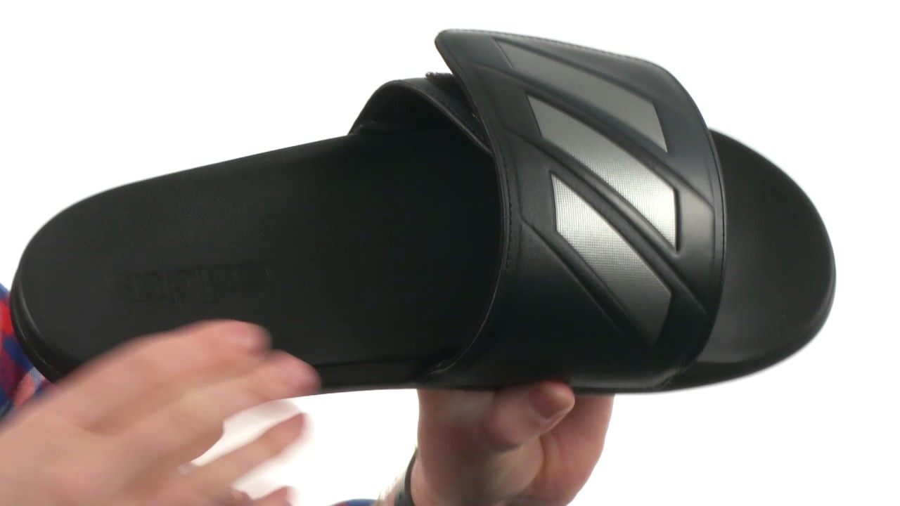 00fc127ed5b4d adidas Adilette CF+ Adjustable SKU 8857316 - YouTube