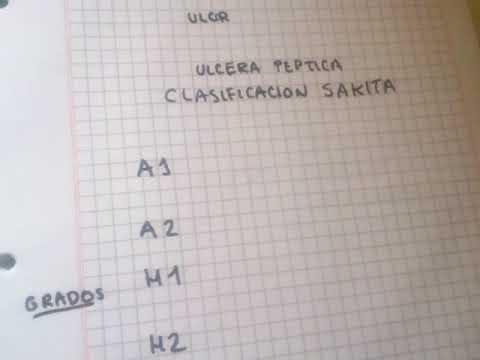 CLASIFICACION SAKITA ULCERA PEPTICA