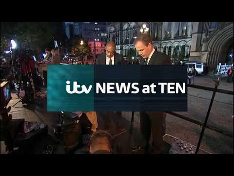 ITV News At 10 Opening Manchester terror attack 23/05/17