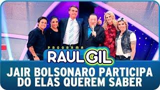 """Programa Raul Gil (25/04/15) - """"Elas Querem Saber"""" recebe Jair Bolsonaro"""