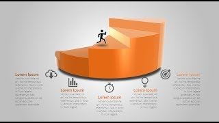 How to make 3d business process slide in Microsoft PowerPoint. PPT tricks.