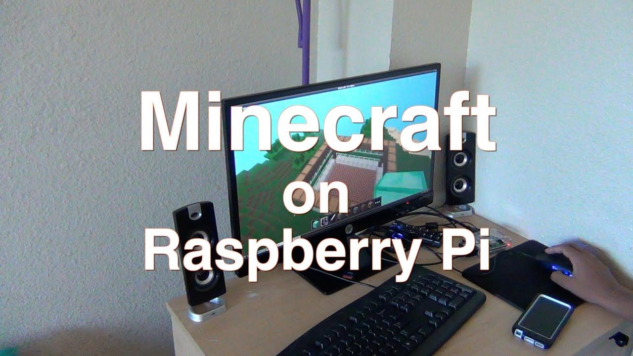 Minecraft Running On Raspberry Pi B YouTube