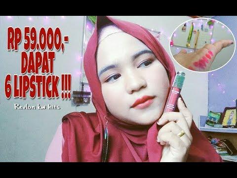 review-and-swatches-lipstick-revlon-matte-kw-hits-kekinian-(tahan-24-jam)