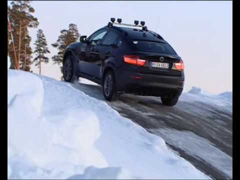 Bmw X6 And X5 2009 Test In Snow Youtube