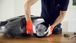 How to install the Terrain Kit on a 300 series Husqvarna Automower®