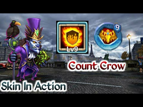 Walla Walla | Skin 9/10 In Action | Count Crow | 9 Flame Guard | 9 Blade Dance | 5 HC | Castle Clash