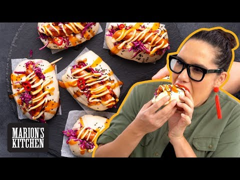 Spicy Hot Dog Bao Buns 💯👊| Marion's Kitchen