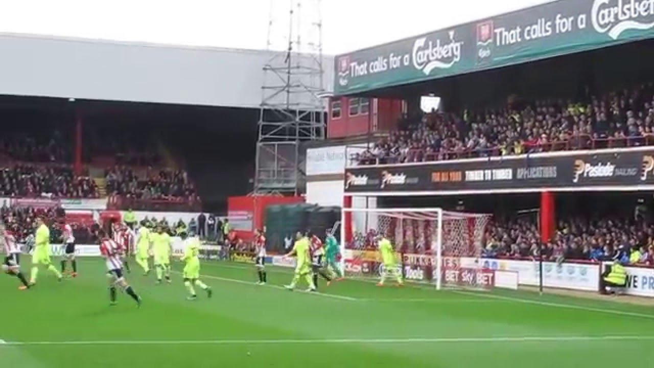 A Game At Griffin Park Home Of Brentford FC