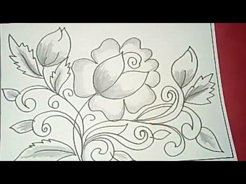 Cara Menggambar Batik Motif Bunga 44 Youtube Cute766