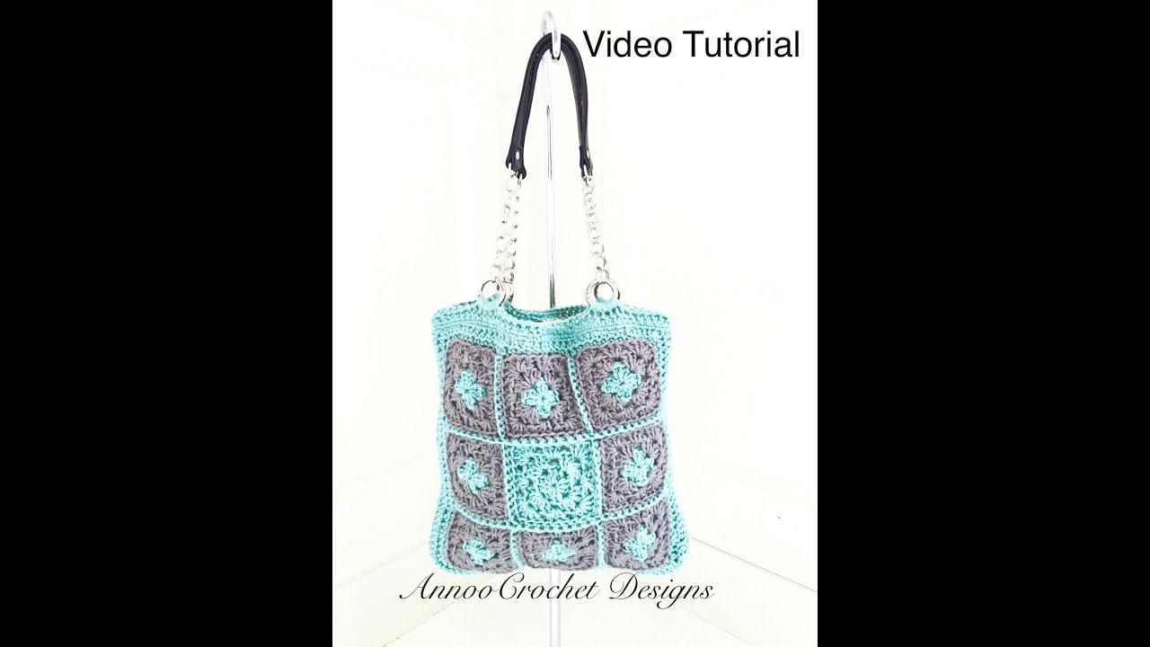 Easy Crochet Granny Square Handbag Tutorial