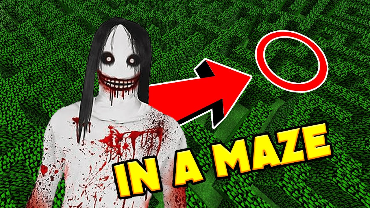 JEFF THE KILLER in a MAZE... *SCARY MINECRAFT VIDEO*
