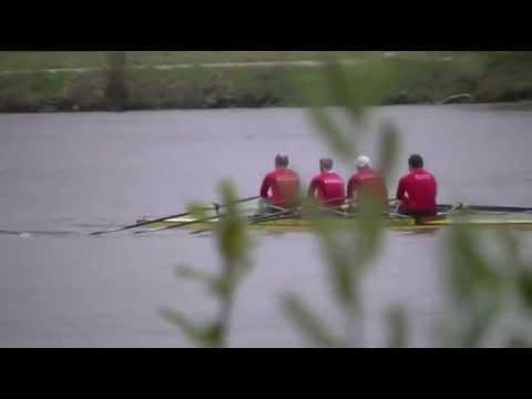 Regatta Regensburg Masters Männer Doppelvierer Zieleinlauf