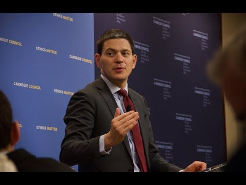Global Ethics Forum: Rescue: Refugees and the Political Crisis of Our Time, with David Miliband