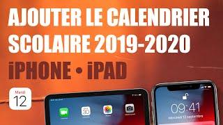 S'abonner au calendrier scolaire 2019-2020 sur iPhone ou iPad (Zone A, B et C)