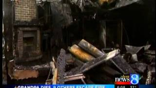 Grandpa dies, 9 others escape fire