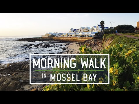 Scenic Virtual Walk in Mossel Bay with Nature Sounds - Garden Route, Western Cape, South Africa