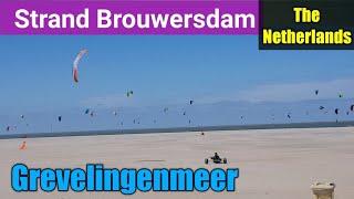 Strand Brouwersdam en Grevelingenmeer : Brouwesdam beach & Grevelingen lake