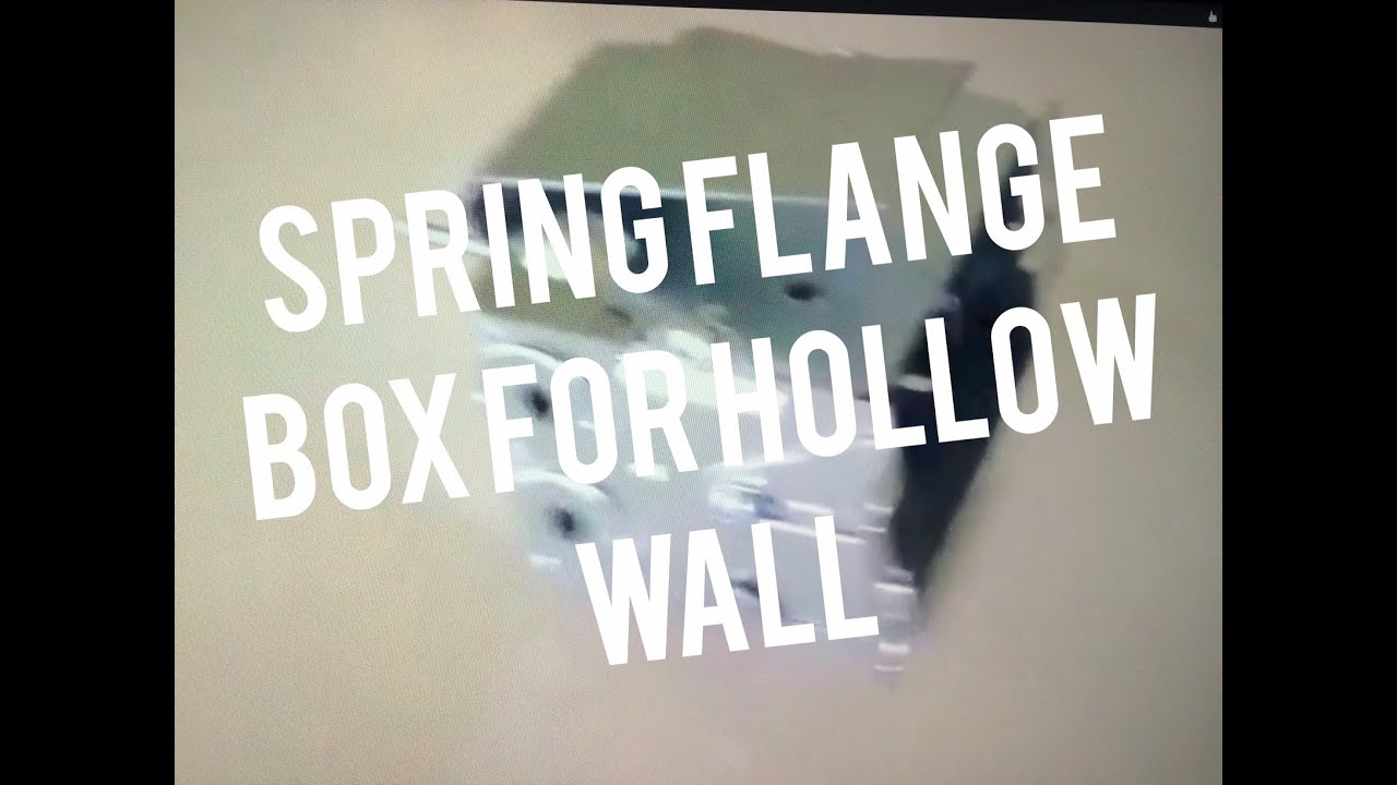 Install Electrical Box Spring Flange in Existing Drywall Lathe