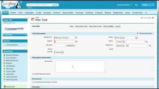 III. Creating Tasks - Salesforce FastStart - Salesforce.com Training