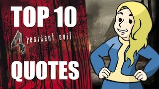 Top 10 Resident Evil 4 Quotes - HALEFAIL