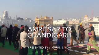 Amritsar to chandigarh | by mercedes benz bus | by travel singh