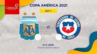 EN VIVO en el Fenómeno del Fútbol   Argentina Vs Chile  - Copa América