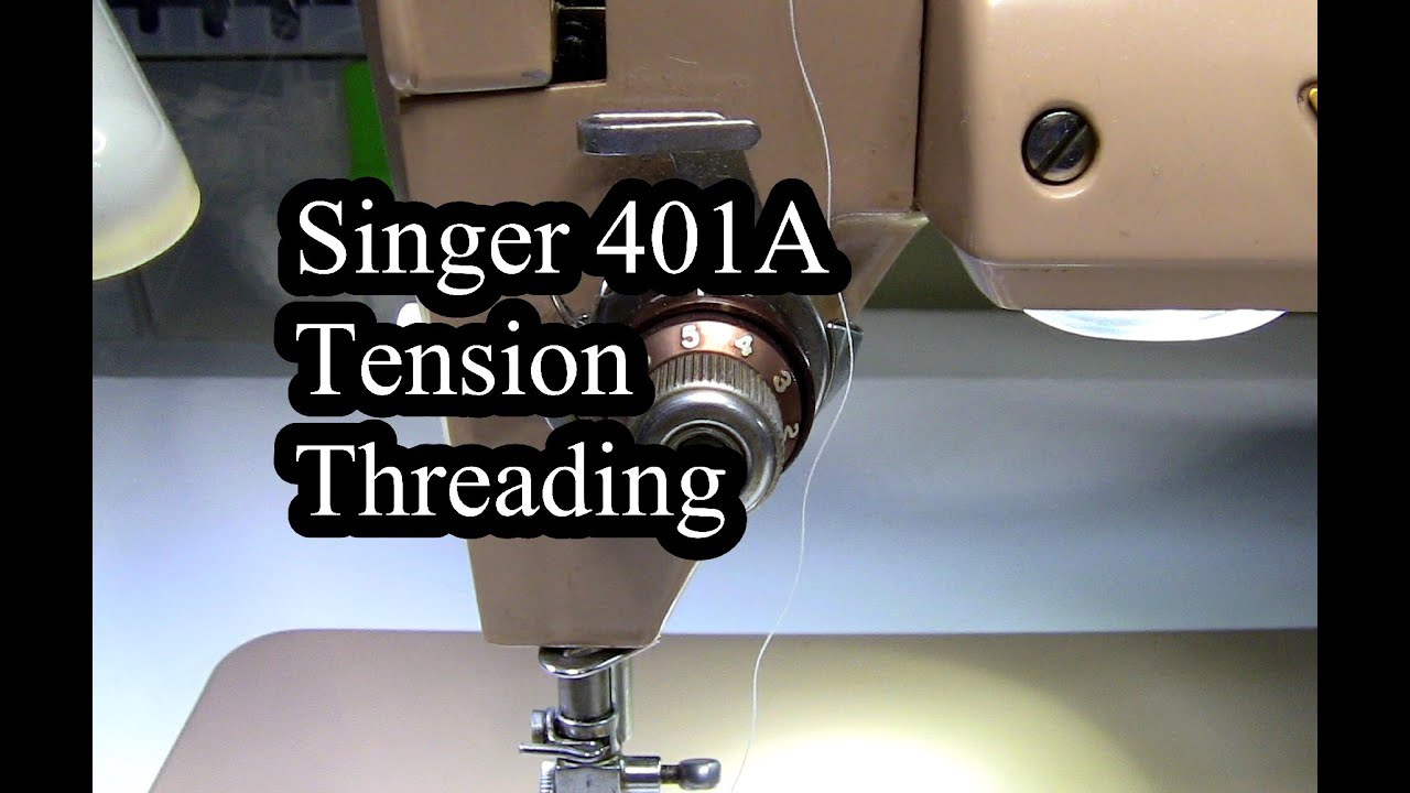 singer 401a tension threading youtube rh youtube com free singer 401a sewing machine manual Singer 401A Stitch Diagram