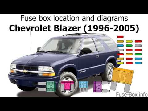Fuse box location and diagrams: Chevrolet Blazer (1996-2005) - YouTubeYouTube