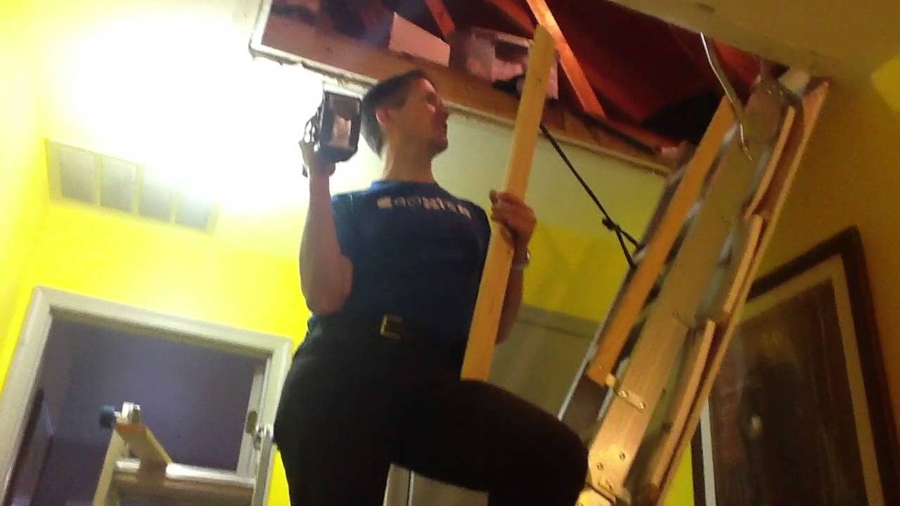Attic Stairs Removal One Person Youtube