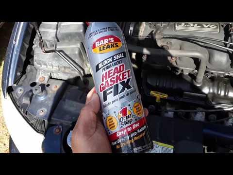 Trying Bars Head Gasket Stop Leak Fix (V1217) Exhaust Smoke Fix