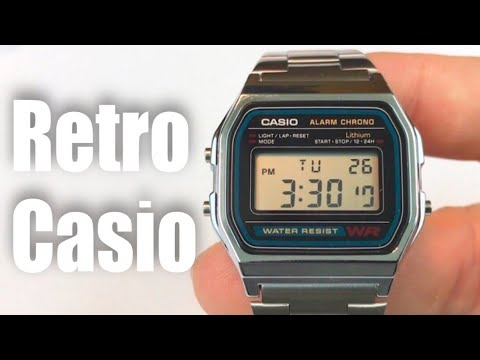 Casio A158W-1 Stainless Steel retro Digital Watch review – giveaway Oct 15, 2016