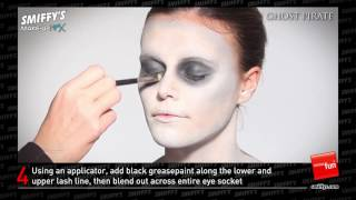 Ghost Pirate Face Painting Make up Tutorial