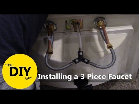 How to install a 3 piece Kohler faucet