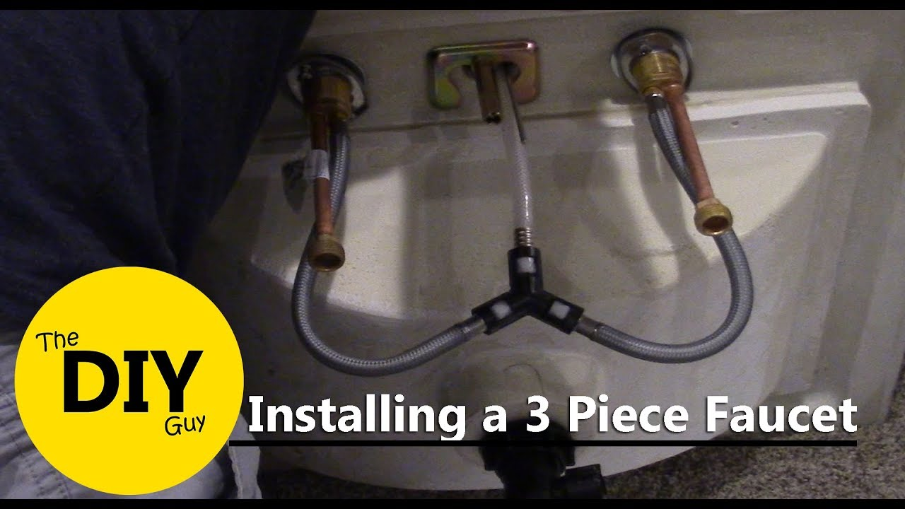 How to install a 3 piece Kohler faucet - YouTube