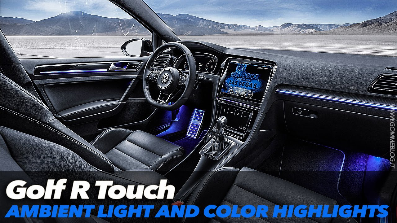 Mk7 Golf R >> VW Golf R Touch | Ambient Light and Color Highlights | CES 2015 - YouTube