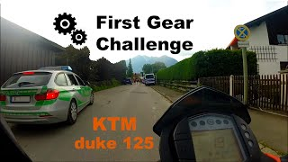 Bulldog Badger`s First Gear Challenge | Ktm Duke 125