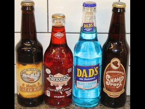 Cicero Beverage Maple Cream, Stewart's Cherries 'n Cream, Dad's Blue Cream, Swamp Pop Praline