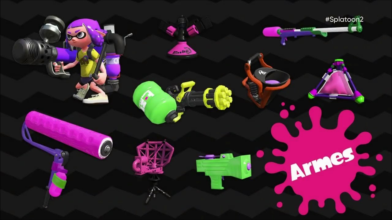 Splatoon 2 Les Armes