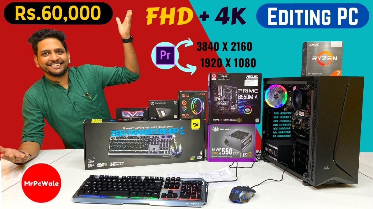 Rs 60000 Editing PC Build | 4K | Ryzen 7 | 5700G |  9532777615 | Mr Pc Wale