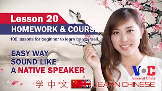 Learning Chinese by Yourself Lesson 20 Homework and courses | Speaking Chinese
