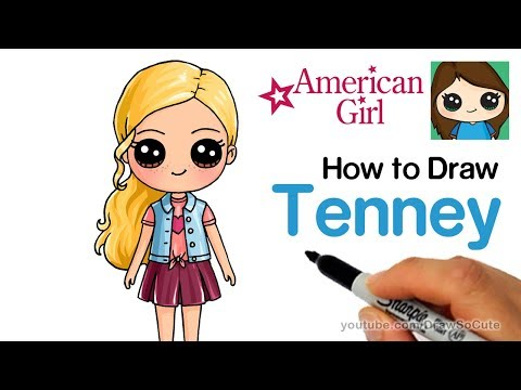 How to Draw Tenney Easy | American Girl Doll