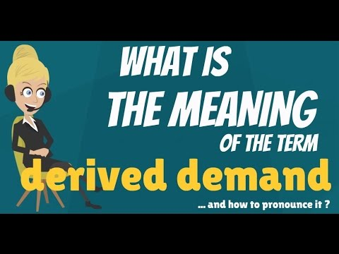 what is the meaning of demand