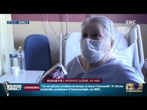 Huguette, 85 ans, guérie du coronavirus après 15 jours d'hospitalisation