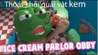 Escape from Monster Cream (Roblox Ice Cream Parlor Obby! [New Path])
