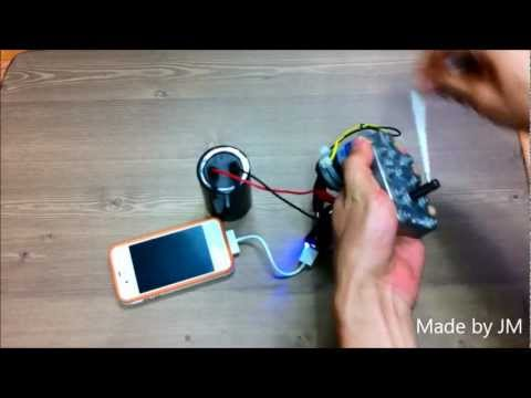 how to make a hand crank generator at home
