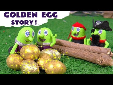 Funny Funlings Golden Egg Prank With Thomas And Friends - A Fun Story For Kids