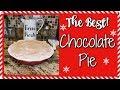 CHOCOLATE PIE~FOODIE FRIDAYS!