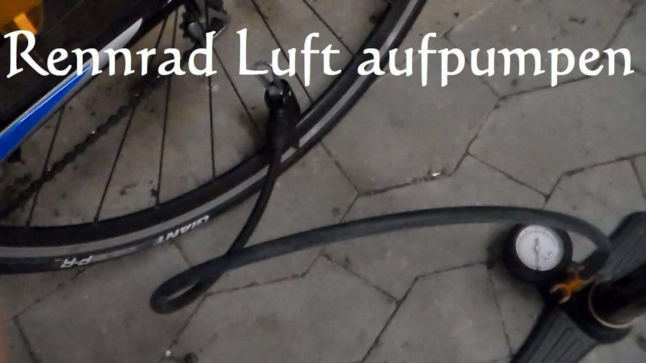 mountainbike reifen aufpumpen