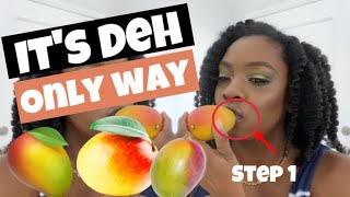 DO NOT CUT A MANGO | How to eat Mango by a Professional Island Woman (Step By Step Process)
